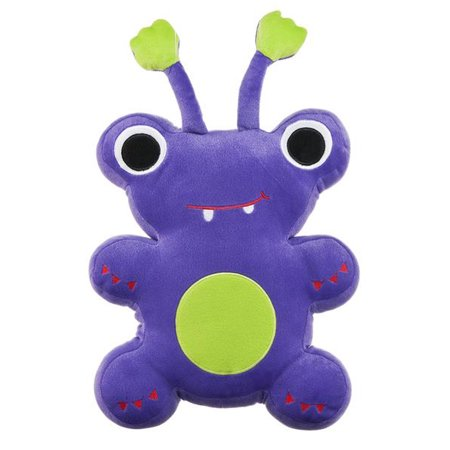 Purple Colored Antennae Monster Plush Pillow - By Ganz