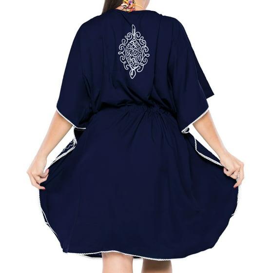 1774e5822f LA LEELA - Kimono Women s Short Beachwear Swimsuit Bikini Cover up ...
