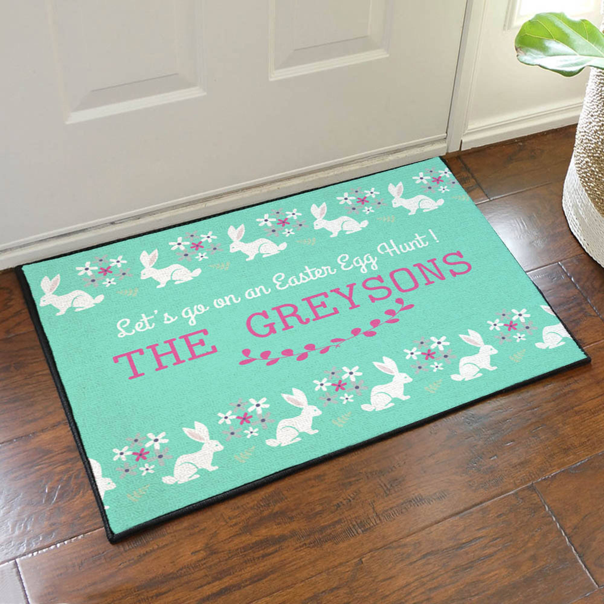 "Easter Egg Hunt Personalized Doormat, 19.5"" x 15.5"""