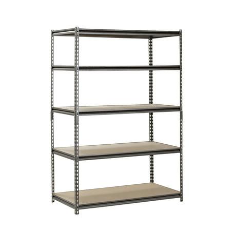 Muscle Rack 5-Shelf Steel Shelving, Silver-Vein, 24
