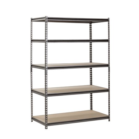 "Muscle Rack 5-shelf Steel Shelving, Silver-vein, 24"" D X 48"" W X 72"" H"