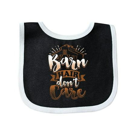 Horse Lover Barn Hair Don't Care Baby Bib Hair Baby Bib