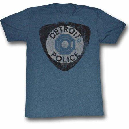 Robocop Movies Detroit Pd Adult Short Sleeve T Shirt (Bleu Detroit Halloween)