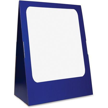 Portable Chart Stand - Flipside, FLP30504, Spiral-bnd Chart Stand/DryErase Brd, 1 Set, Blue,White