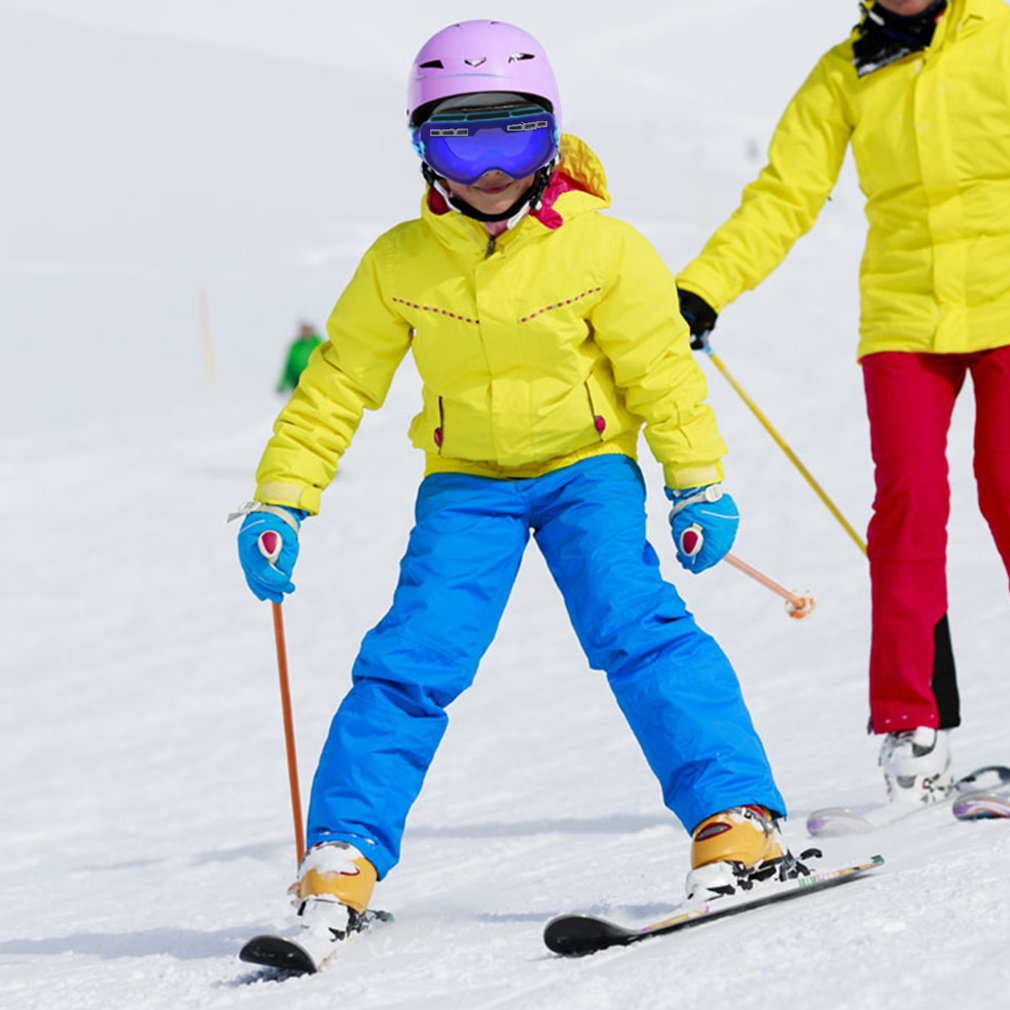 Children Durable Snow Ski Goggles Double Lens Anti-fog Windproof Mask Glasses Ski glasses by Bordagt