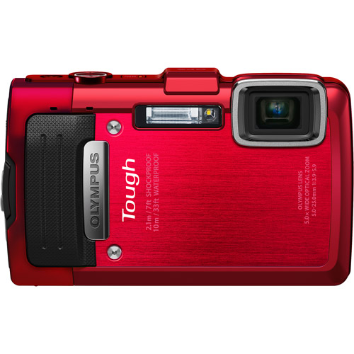 Olympus Red TG-830 16 Megapixels 5x Optical Zoom Digital Camera, Includes 100 BONUS prints