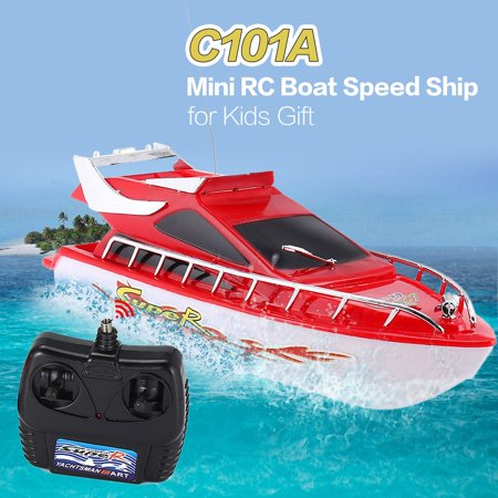C101A Mini Radio Remote Control RC High Speed Racing Boat Speed Ship