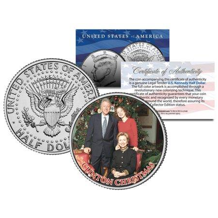 Clinton Christmas Colorized Jfk Kennedy Half Dollar Us Coin Bill Chelsea Hillary