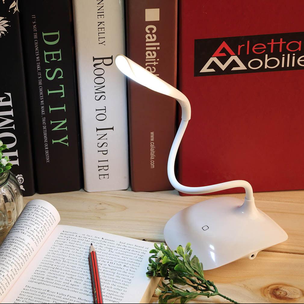Adjustable USB Rechargeable Touch Sensor LED Desk Table Lamp by konxa