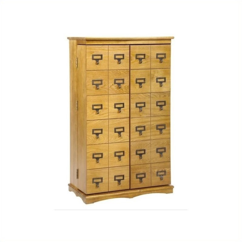 "Leslie Dame 40"" Library Style Multimedia Storage Cabinet in Oak"