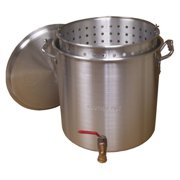 King Kooker Aluminum Boiling Pot with Drain Valve