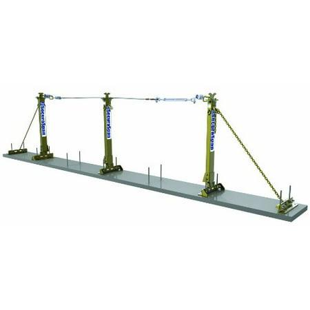 3M DBI-SALA Secura Span 7400640 Horizontal Concrete Rebar/Shear Stud  Sys,40' Galv Cable,Fits 1/2