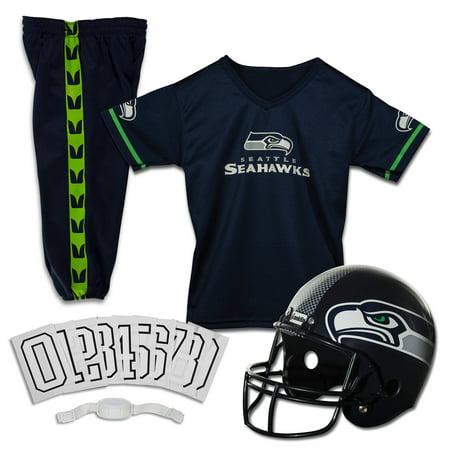 Franklin Sports NFL Seattle Seahawks Youth Licensed Deluxe Uniform Set, Medium (Seahawks Costume)