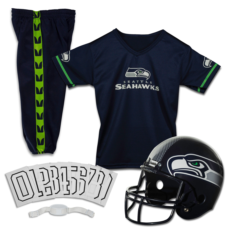 Franklin Sports NFL Seattle Seahawks Youth Licensed Deluxe Uniform Set, Medium