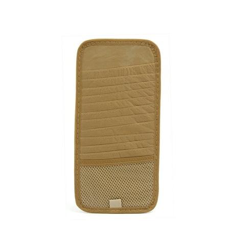 2Pcs Nylon Car Sun Visor CD DVD Disk Card Case Storage Holder Clip Cover Bag (Car Storage Case)