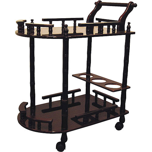 Cherry 2-Tier Wine Table