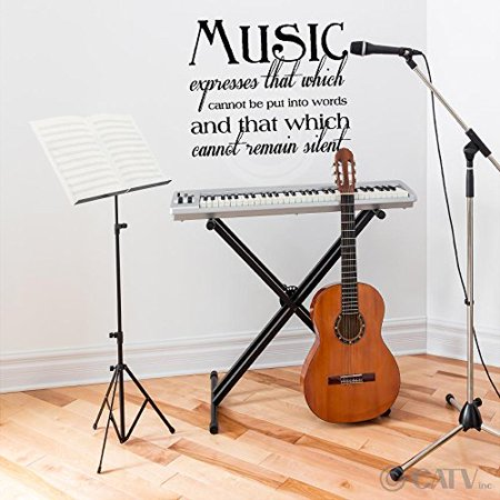 Music Expresses That Which Cannot Be Put Into Words and That Which Cannot Remain Silent Vinyl Lettering Wall Decal (22
