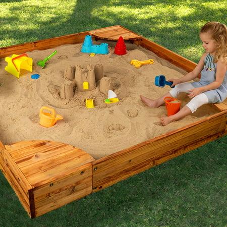 KidKraft Backyard Sandbox - Honey