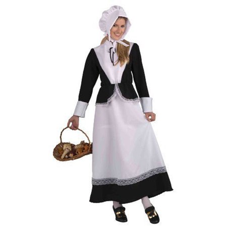 Forum Novelties Plymouth Pilgrim Woman Costume - One Size, Standard - Woman Pilgrim Costume