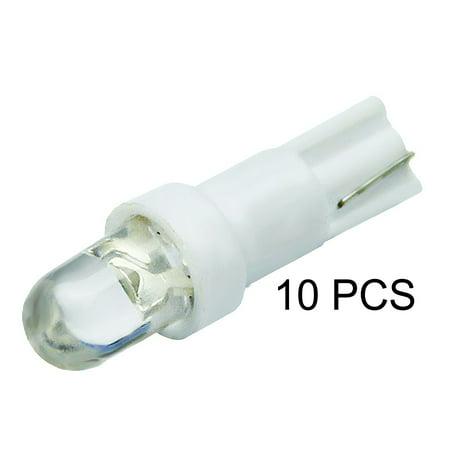ICBEAMER T5 Instrument White Gauge Cluster LED light Bulbs Dashboard Lamp Instrument Panel Indicators 70 73 74 [10 pcs]