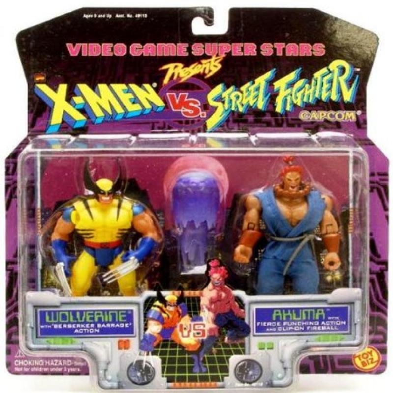 Video Game Super Stars Presents X-Men Vs. Street Fighter Capcom, Wolverine Vs. Akuma by