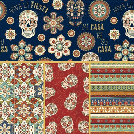 David Textiles La Vida Loca Cotton 1-Yard Fabric Cut ()