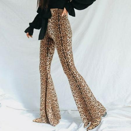 Women High Waist Long Pants Wide Leg Trousers OL Ladies Flare Work Pants New
