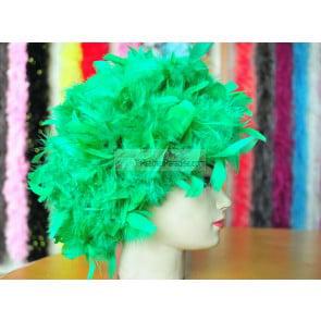 Green Chandelle Feather Wig/Halloween Costume Wig