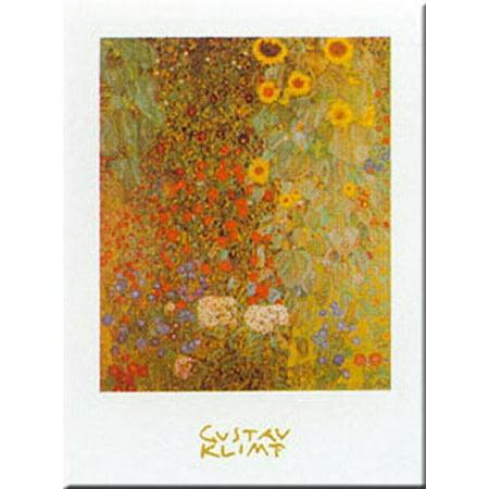 Garden W/ Sunflowers by Gustav Klimt 20x28 Art Print (Gustav Klimt Garden)