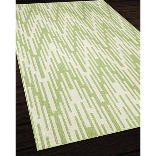 Nolita Rugs Indoor/ Outdoor Green Ikat Rug (6'7 x 9'6)