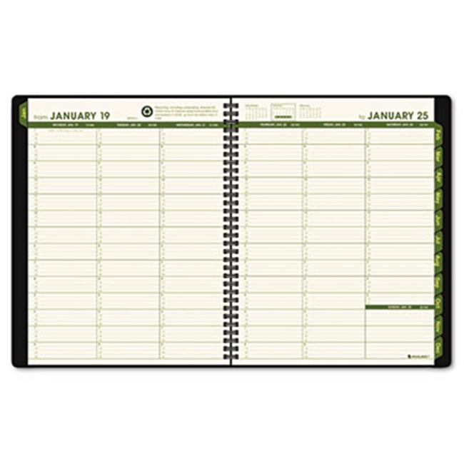 At-A-Glance 70950G60 Recycled Weekly/Monthly Classic Appointment Book  13-Mos. (Jan-Jan)  Green Cover