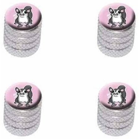 8 Aluminum Roller Rockers (Sugar Glider on Pink Tire Rim Wheel Aluminum Valve Stem Caps, Multiple Colors)