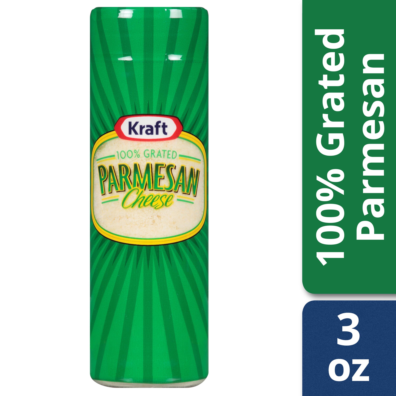 Kraft 100% Grated Parmesan Cheese Shaker, 3 oz Bottle