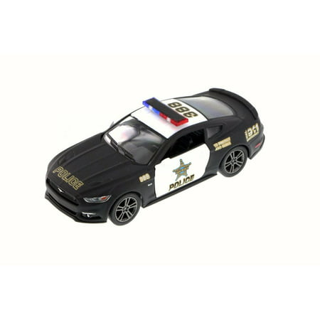 2015 Ford Mustang GT Police, Black - Kinsmart 5386DP - 1/38 Scale Diecast Model Toy Car (Brand New but NO