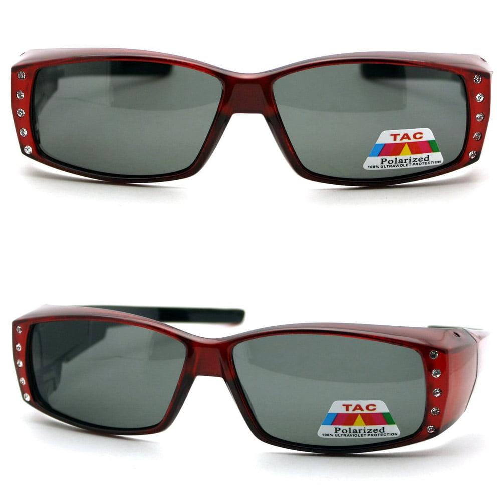 d4ef7ccdc0ae ZHRZ KZXRURX - Womens Rhinestone Rectangular Polarized Fit Over Glasses OTG  Sunglasses Driving - Walmart.com