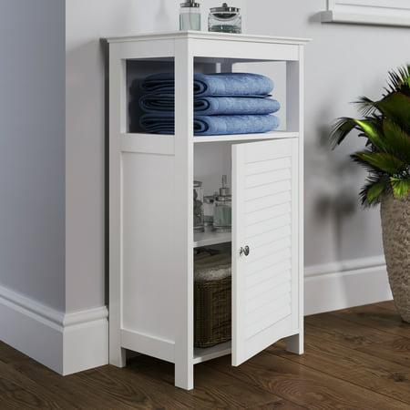 RiverRidge Ellsworth Collection - Single Door Floor Cabinet - White