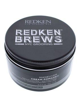 Redken Brews Maneuver Cream Hair Pomade for Men, 3.4 Oz
