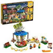 LEGO Creator Fairground Carousel 31095 Space-Themed Building Kit (595 Pieces)