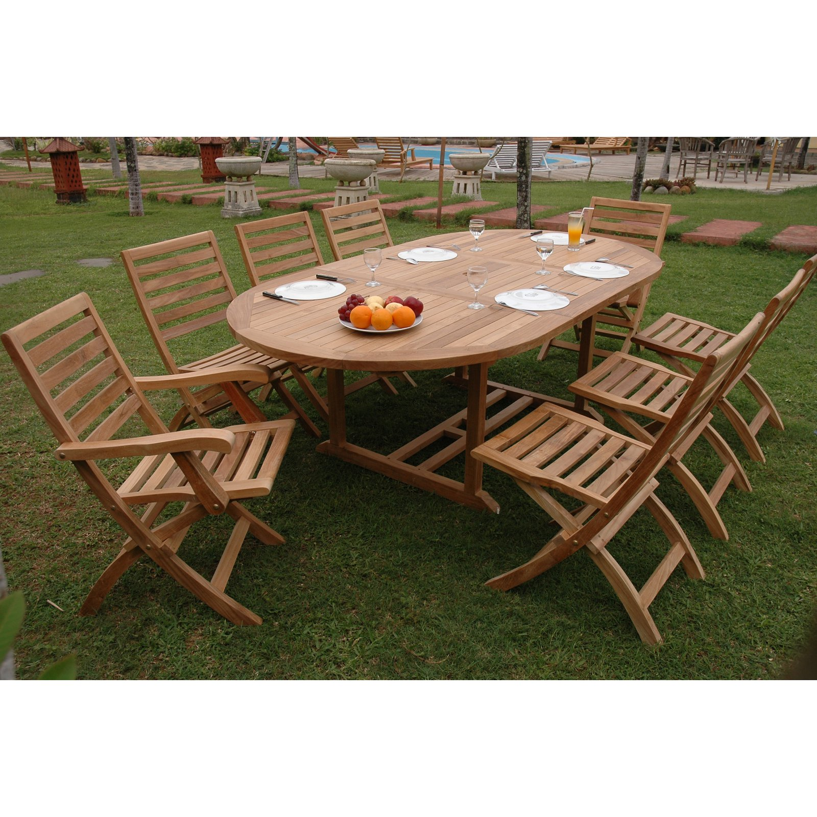 Anderson Teak Andrew 9 Piece Patio Dining Room Set by Anderson