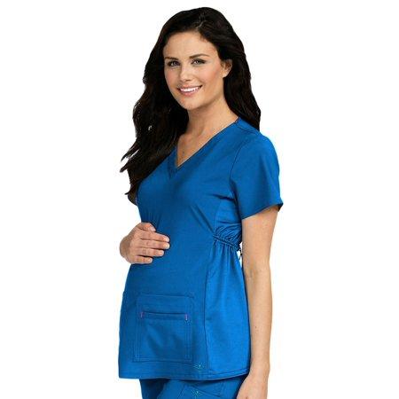 267ec1e006e Med Couture - Med Couture Women's V-Neck Side Knit Maternity Scrub Top,  Royal, X-Small - Walmart.com
