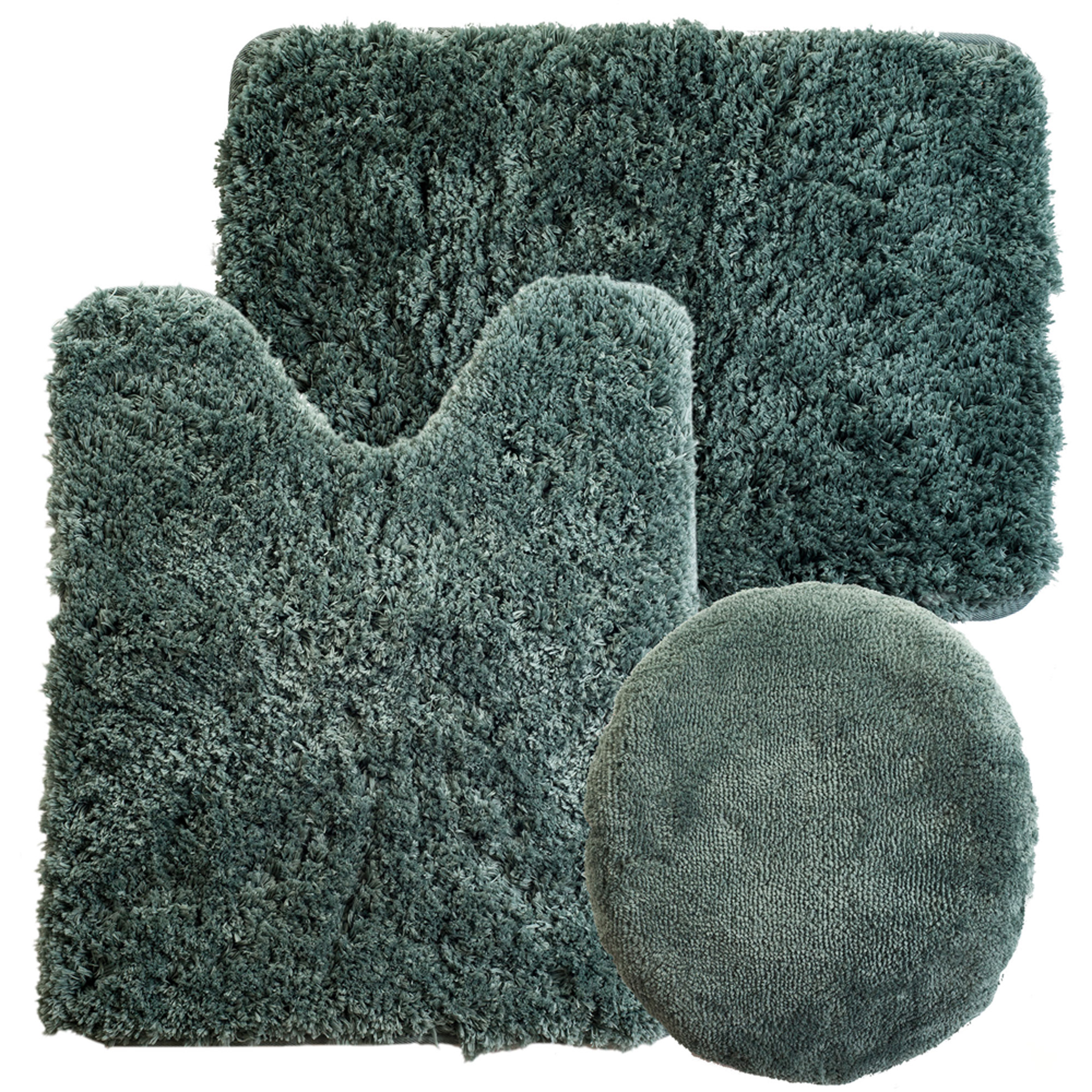 Plush Bathroom Rugs Lavish Home 3 Piece Super Plush Non Slip Bath Mat Rug Set