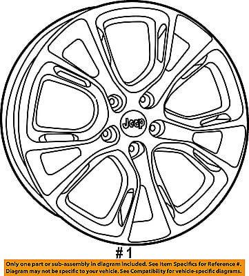 Jeep Chrysler Oem 14 15 Grand Cherokee Wheel Alloy Aluminum