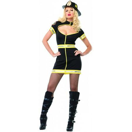Firefighter Adult Costume (Flirty Firefighter Adult Costume Black -)