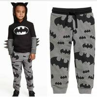 Spring Baby Boys Kids Cartoon Batman Printed Pants Casual Trousers 2-7Y
