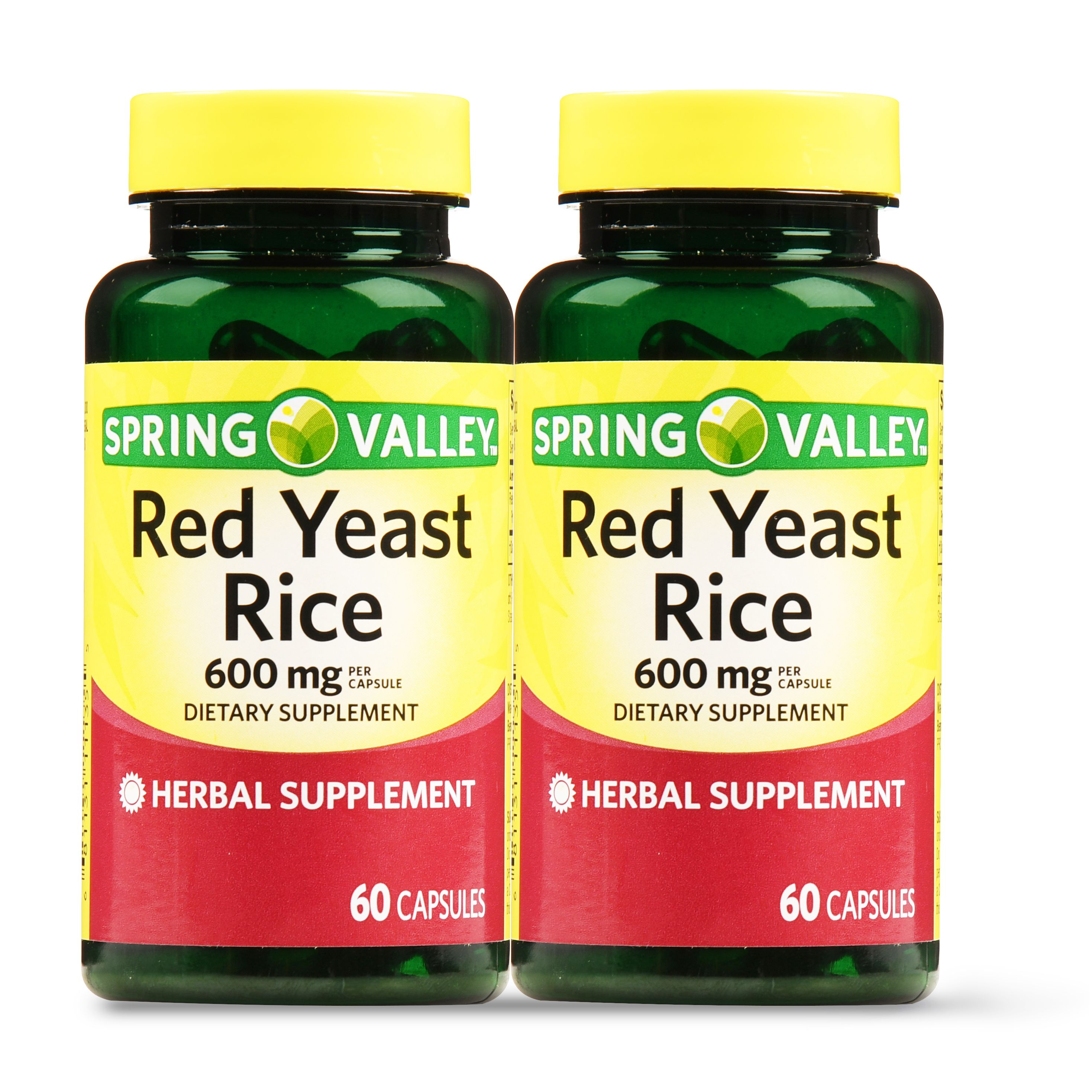 Spring Valley Red Yeast Rice Capsules, 600 mg, 60 Ct, 2 Pk