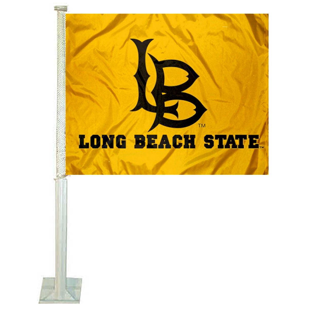"California State University Long Beach 12"" x 15"" Car Flag"