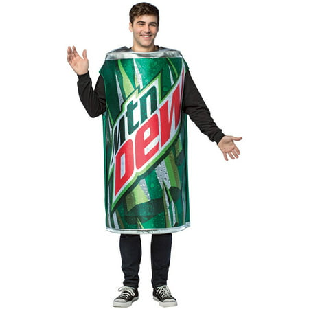 Mountain Dew Can Tunic Men's Adult Halloween Costume, One Size (Mountain Dew Costume)