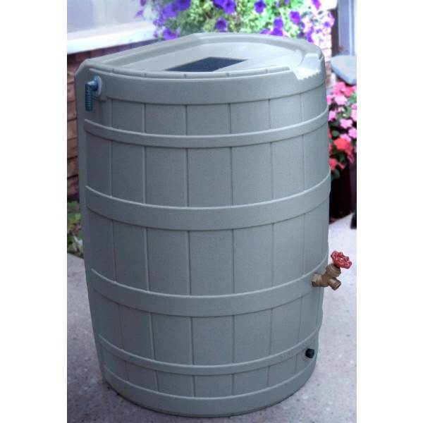 Rain Barrel in Gray