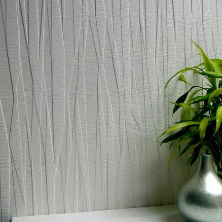 Brewster Folded Paper Paintable Textured Vinyl Wallpaper
