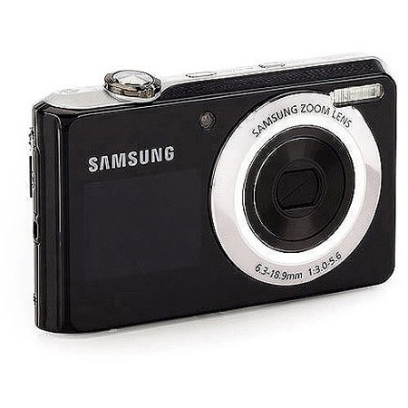 Samsung DualView TL205 Black w/ Silver Trim 12.2 MP Digital Camera w/ 3x Optical Zoom w/ 50 Bonus Prints
